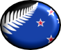 new zealand flag in blue and black with a fern leave