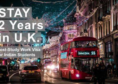UK announces 2 year post study work visa for international students