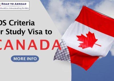 Eligibility criteria for SDS – Canada Student Visa