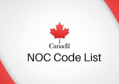 National Occupational Classification (NOC) for Canada PR