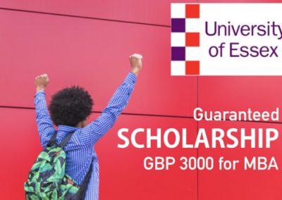 MBA Early Bird Discount Essex University