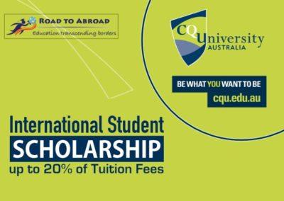 International Student Scholarship at CQU – Central Queensland University, Australia