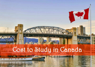 Cost to Study in Canada