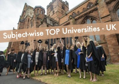 Top Universities in the UK by Subject 2020
